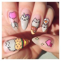 @pusheen on Instagram ❤ liked on Polyvore featuring nails