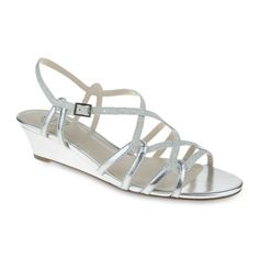 jcpenney - I. Miller Fair Metallic Strappy Wedge Sandals - jcpenney