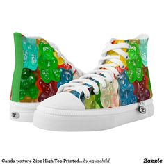 Candy texture Zipz High Top Printed Shoes