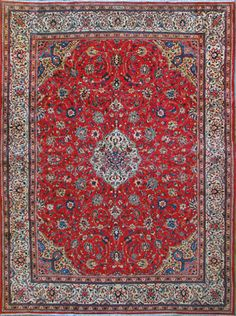 "Buy Sarough Persian Rug 9' 5"" x 12 8"", Authentic Sarough Handmade Rug"