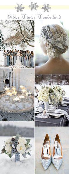 stunning glitter silver winter wonderland wedding ideas