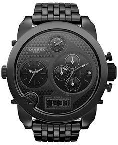 Diesel Watch, Men's Analog-Digital Chronograph Black Ceramic Bracelet 57mm DZ7254 - Men's Watches - Jewelry & Watches - Macy's