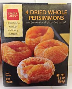 Trader Joe's 4 Dried Whole Persimmons