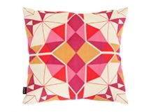 Crystal Square Scatter Cushion in jasper red | made.com