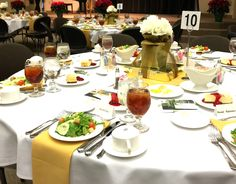 Tablescape for the 2014 President's Club Dinner.