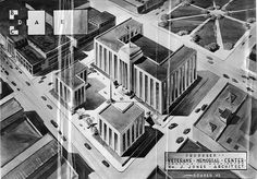 Proposed Veterans Memorial Center, 1945