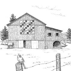 Beth Dix Art...embroidery and quilting!: 2011 Appalachian Memories Barn Drawings