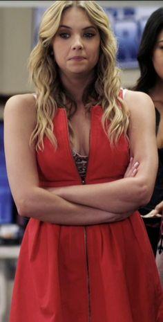 Hanna Marin's Orange Zipper Dress from Pretty Little Liars: A Kiss Before Lying #ShopTheShows #curvio