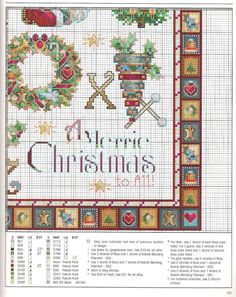 Merrie Alphabet 7 of 7 Xmas Cross Stitch, Beaded Cross Stitch, Cross Stitch Borders, Crochet Cross, Cross Stitch Alphabet, Cross Stitch Samplers, Cross Stitch Charts, Counted Cross Stitch Patterns, Cross Stitching