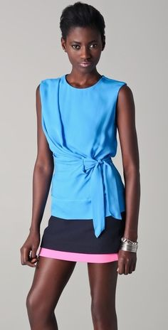 still obessed with blue. Diane von Furstenberg $192