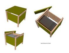 ASTRID: Pieza modular para salas de estar con doble funcionalidad como mesa ratona y archivador .