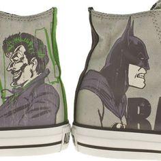 Men's Light Grey Converse All Star Print Dc Comics Joker at schuh #schuh #sale #converse #batman #joker