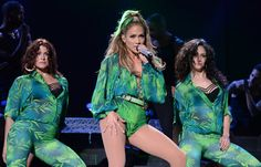 Pin for Later: Jennifer Lopez Just Repeated Her Most Infamous Versace Moment Hometown Bronx Concert in 2014 Even her backup dancers got the memo.