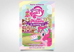 My Little Pony Invitation Birthday Party by FuntasticParties, $5.50