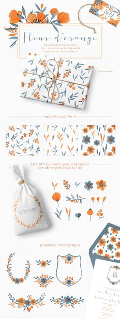 Floral Watercolor Graphics Bundle - Illustrations graphic design  -partner link