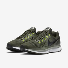 size 40 e113c e46a2 Nike Men Air Zoom Pegasus 34  Olive Green  Shoe Sneaker New! US Shoes