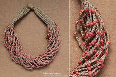 Resultado de imagen para collares tejidos acrochet de moda