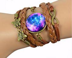 Milky Way Galaxy Cabochon Bracelet
