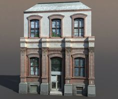 3d model building exterior modeled - Apartment House #63 Low Poly 3d Model... by cerebrate
