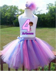 Doc McStuffins Birthday Party Tutu Dress by 4EverTuTu on Etsy www.etsy.com/shop/4evertutu