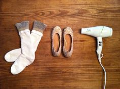 easy way to stretch out too tight shoes