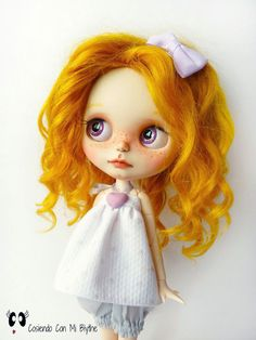 Ooak custom Blythe doll for adoption Ginger by Cosiendoconmiblythe
