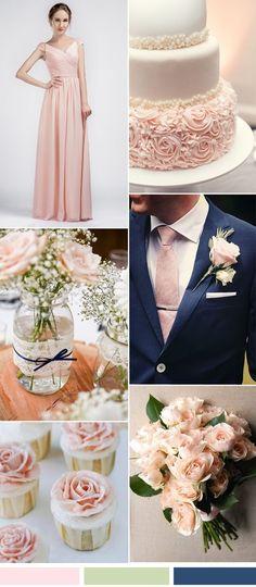 Image result for amazing long V-neck chiffon pink bridesmaid dresses wedding cake
