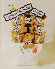 Dog Birthday Treat Gift Basket