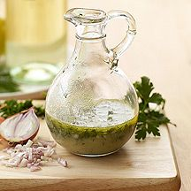 Greek vinaigrette dressing- the only changes I would make would be to add lemon zest and crumbled feta cheese. Delicious tossed on steamed veggies, too!