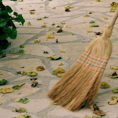 Sweeping, sweeping, 'round the room,  Blessings from this cleansing broom.  From floor to ceiling, and all between,   May this space be fresh and clean.  Sweeping good energy here to me,  As I will, so it shall be.