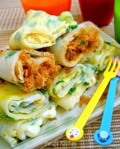 Peng's Kitchen: 早餐店的蛋饼 Taiwanese Egg Pancake