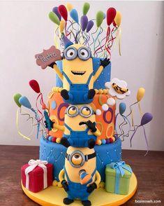Minion Theme, Minion Party, Fancy Cakes, Cute Cakes, Pastel Minion, Bolo Minion, First Birthday Centerpieces, Happy Birthday Minions, Beautiful Birthday Cakes