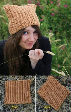 Нat with cat ears Knitting Made of thick yarn Large viscous by ThingsFromShela   Etsy