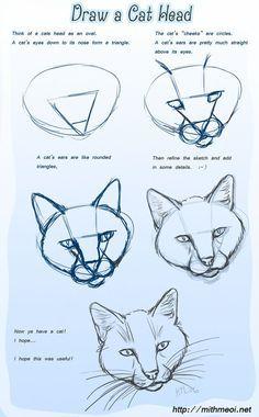 Katzenkopf Source by - pencil-drawings Animal Sketches, Animal Drawings, Drawing Sketches, Pencil Drawings, Sketching, Drawings Of Cats, Easy Drawings Of Animals, Cat Sketch, Couple Drawings