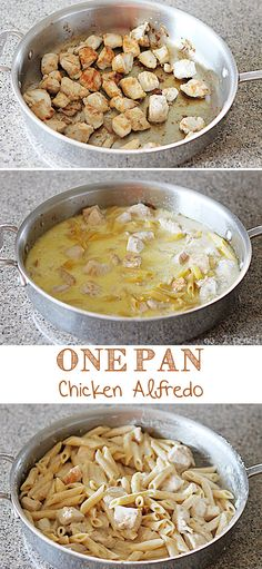 One Pan Chicken Alfredo |