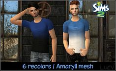 mertiuza | TS2 - Amaryll mesh t-shirts gradient recolor for men