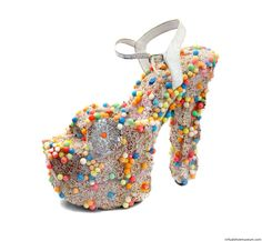 0b878b6a542f Lollipop by Ute Faber - Vintage platform shoe covered with sugar sweets