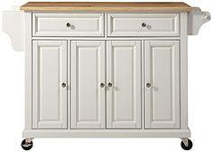 $283, Crosley Furniture Natural Wood Top Kitchen Cart/Island, W... http://smile.amazon.com/dp/B003ZLGO8S/ref=cm_sw_r_pi_dp_SdUuxb1ED34JK
