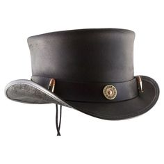 caebcecbc594 Browse leather Voodoo Hatter hats featuring unique details to fit your  lifestyle, all made in the USA. Shop our top hats today at American Hat  Makers!