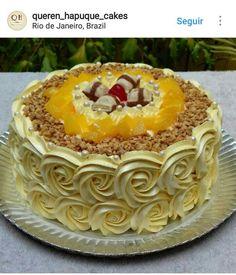 Cake Varieties, Buttercream Cake Designs, Frosting Flowers, Waffle Cake, Cake Factory, Sweet Cakes, Beautiful Cakes, Eat Cake, Cake Decorating