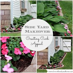 Side Yard Makeover: Creating Curb Appeal - I'd like to do this by the side of the garage (also in a few other places in the yard...)