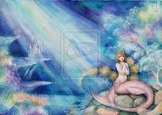 the little mermaid -watercolor by jurithedreamer.deviantart.com on @deviantART