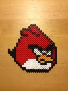 Angry birds - Red Bird hama beads by PixelPlastik on deviantart