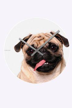 pug clock!