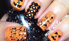 Without Pumpkins It Will Be No Longer Called Halloween This Is A Nail Art Design