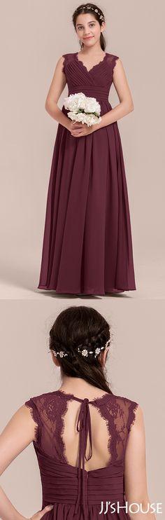 c2d9b37e478 Classic affordable junior bridesmaid dress and a pretty back design!