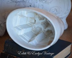 Antique Ironstone Pudding Mold by edithandevelyn on Etsy