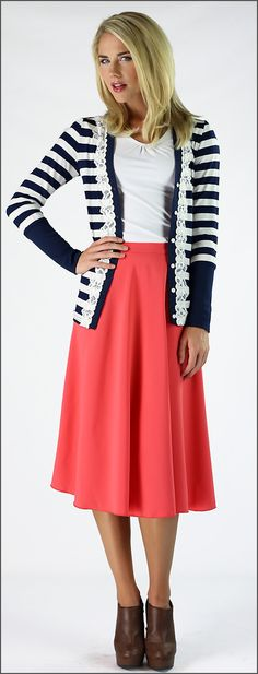 Cardigan with Lace [MCF4465] - $29.99 : Mikarose Fashion, Reinventing Modest Fashion