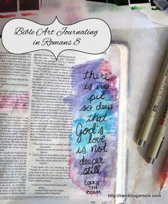 bible art journaling process