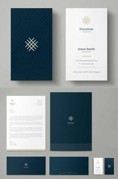 Floralium Corporate Identity Business Cards Layout, Modern Business Cards, Business Card Mock Up, Business Card Design, Invoice Design, Letterhead Design, Booklet Design, Corporate Identity Design, Branding Design